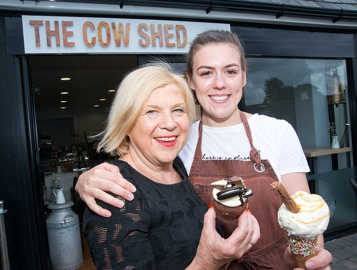 Emma with her former food tech teacher Shelley at The Cow Shed in Penwortham