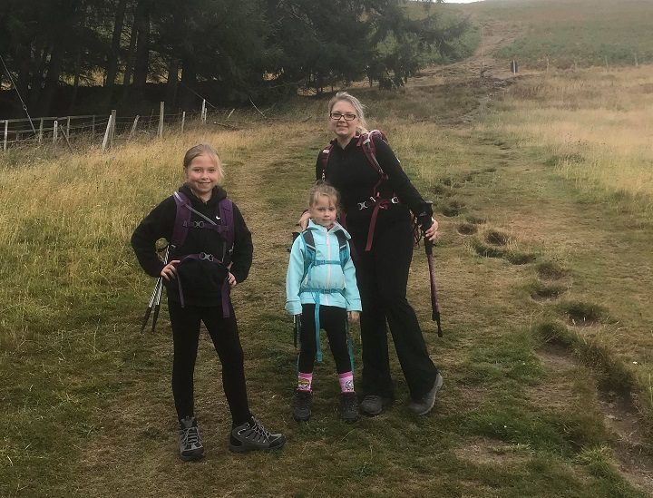 Halle with mum Carly on the walk in the Lake District Pic: Blog Preston