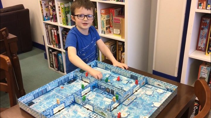 Playing an ice cool game at the summer club