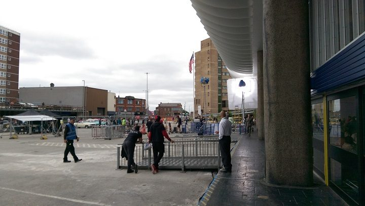Vehicles were seen being filmed outside the Bus Station Pic: Blog Preston