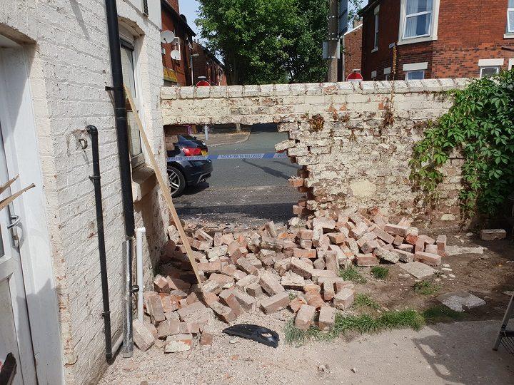 The scene in Eldon Street following the crash Pic: Kaity Lyon
