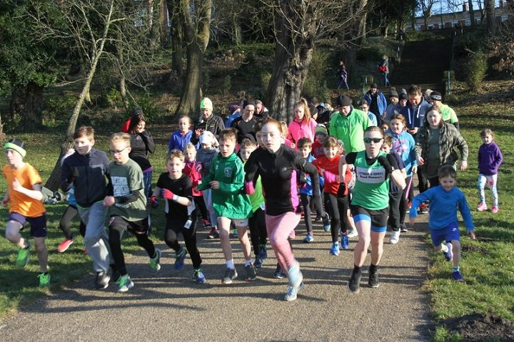 The junior parkrunners in action Pic: Ian Scott