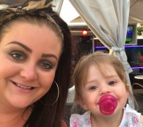 Laura and daughter Ava before the accident Pic: Blog Preston