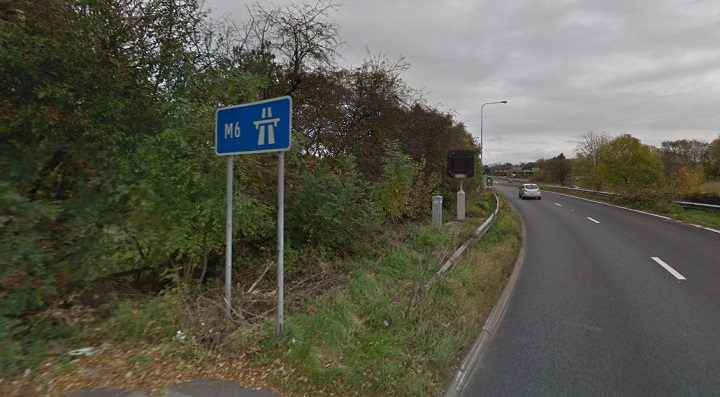 Junction 29 of the M6, close to where the crash took place Pic: Google