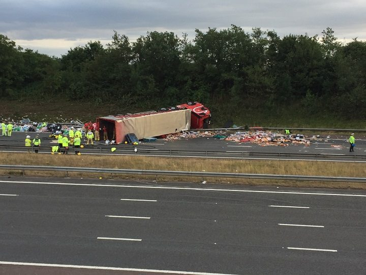 The scene on the M6 at Junction 31A Pic: Edward Clarke