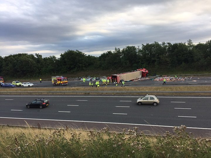 The emergency services response to the M6 crash Pic: Edmund Clarke