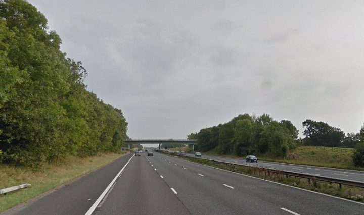 The M6 southbound is seeing delays due to the lorry crash Pic: Google