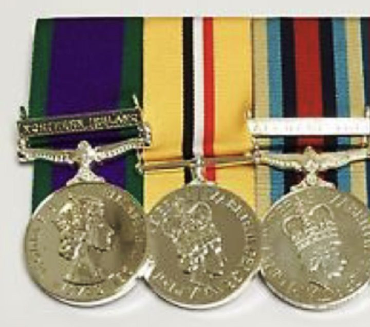 The medals are for service in Northern Ireland, Iraq and Afghanistan
