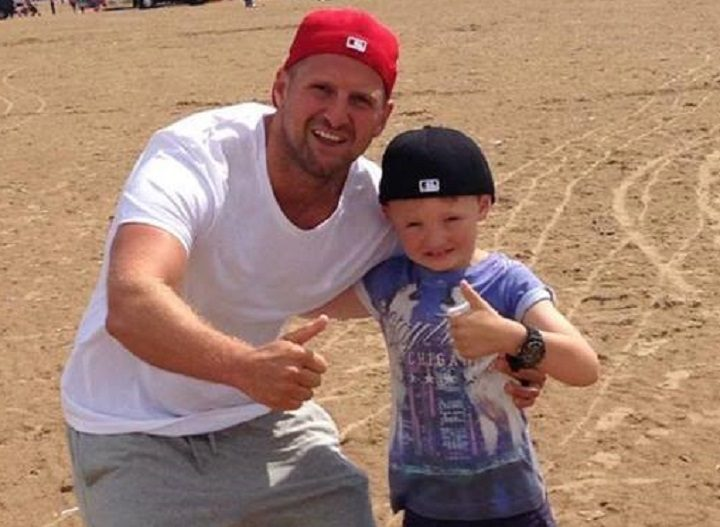 Ste Wardle with his son Harry