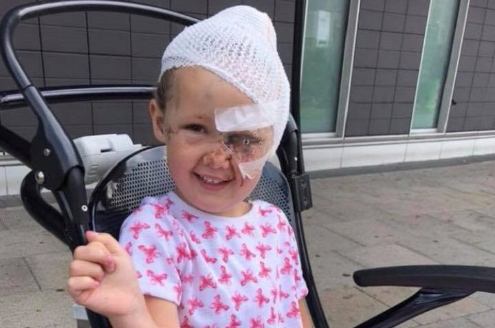 Tillie puts on a brave face in the days after the attack Pic: Blog Preston