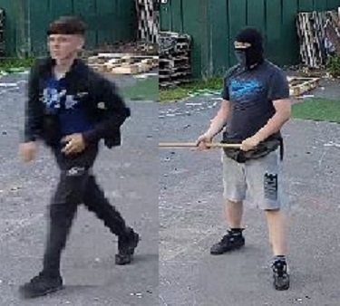 Two of the men pictured by police