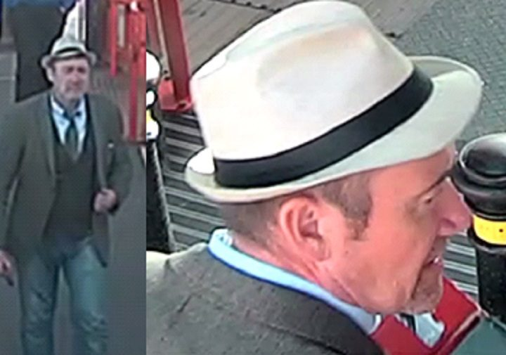 Police want to speak to this man in the white hat