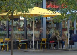 The current outdoor seating at Turtle Bay in Preston Pic; Tony Worrall