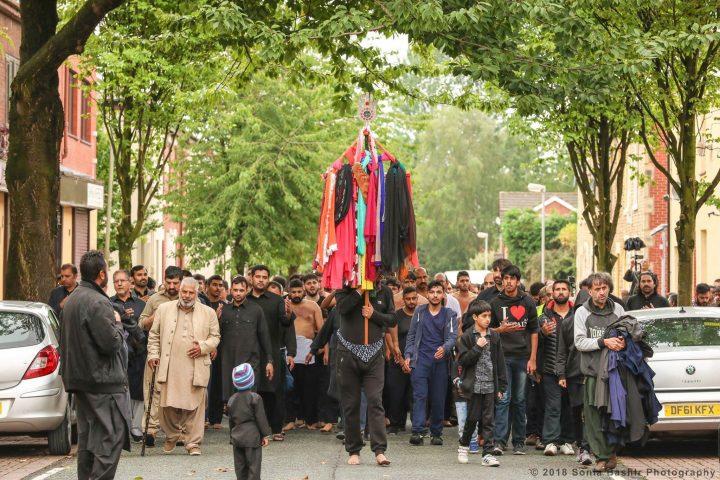 The procession makes its way through Fishwick Pic: Sonia Bashir