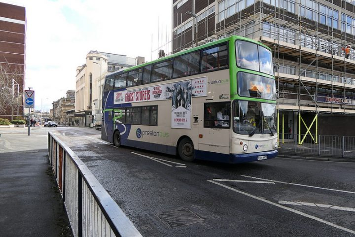 A Preston Bus service heading out of the city centre Pic: Ian Simpson