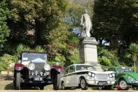 The Earl of Derby looks on during the classic car show Pic: Paul Melling
