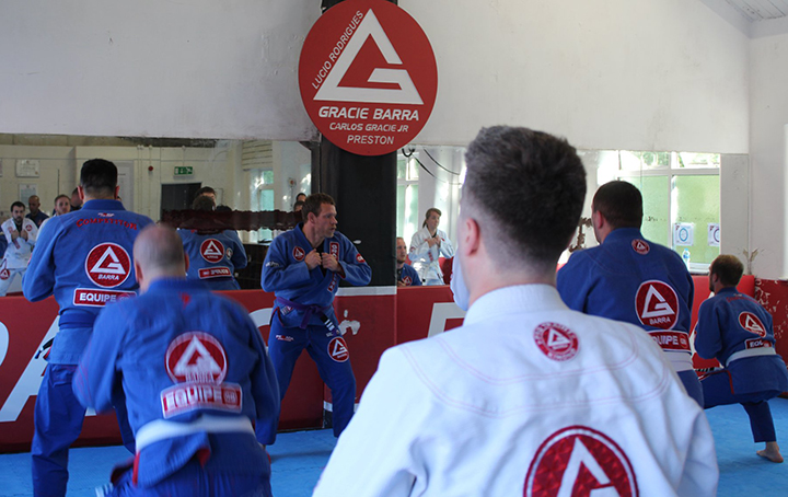 Training at Gracie Barra Preston