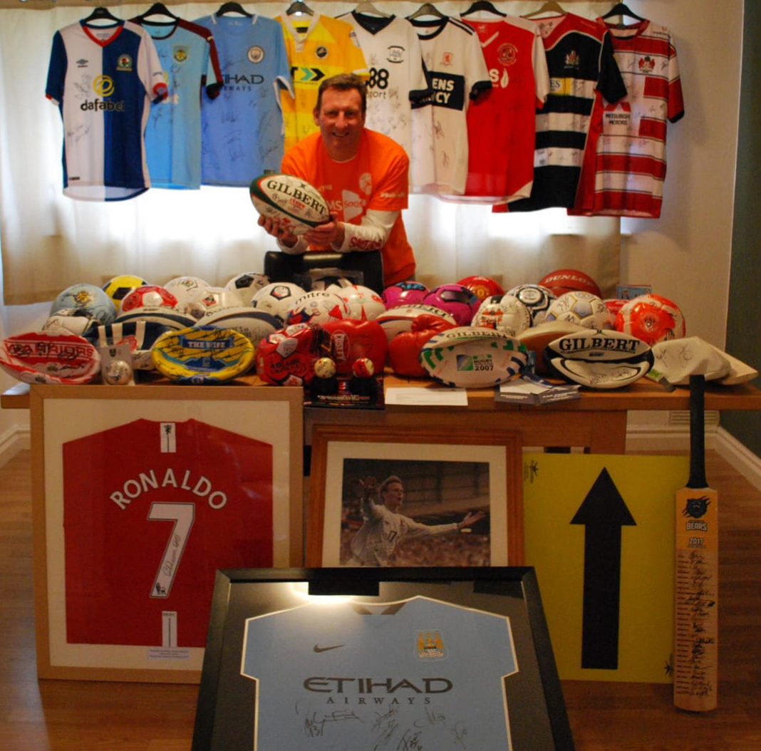 Kev with his collection in March 2018