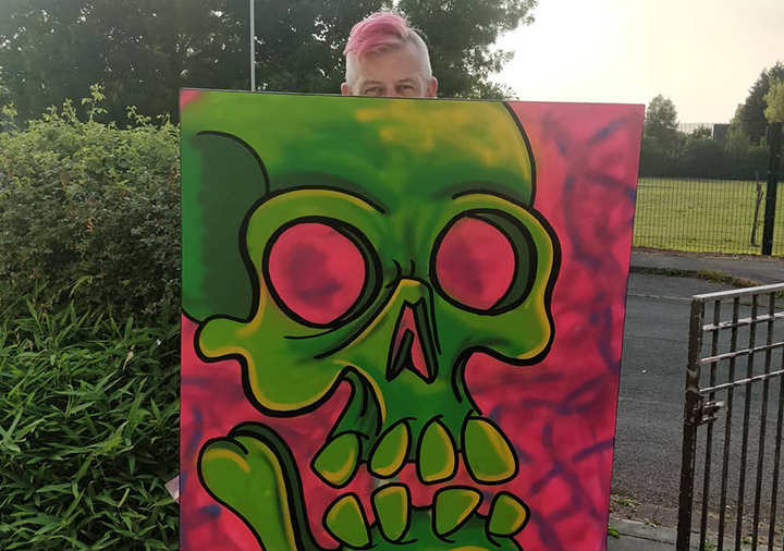 Artist Stu Nellas will be holding spray painting demos at the open day
