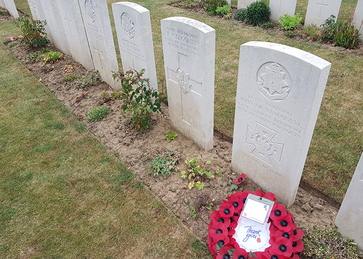 The grave of Corporal John McNamara VC