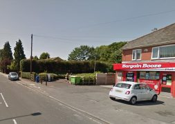 The stabbing took place near the Bargain Booze store Pic: Google
