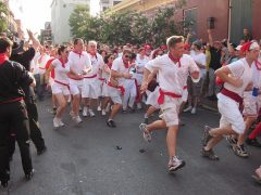 The Pamplona Bull Run is the inspiration for the event