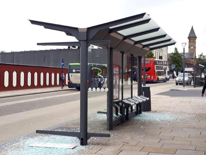 The bus stop on Thursday morning Pic: Ashley Weir/Blog Preston