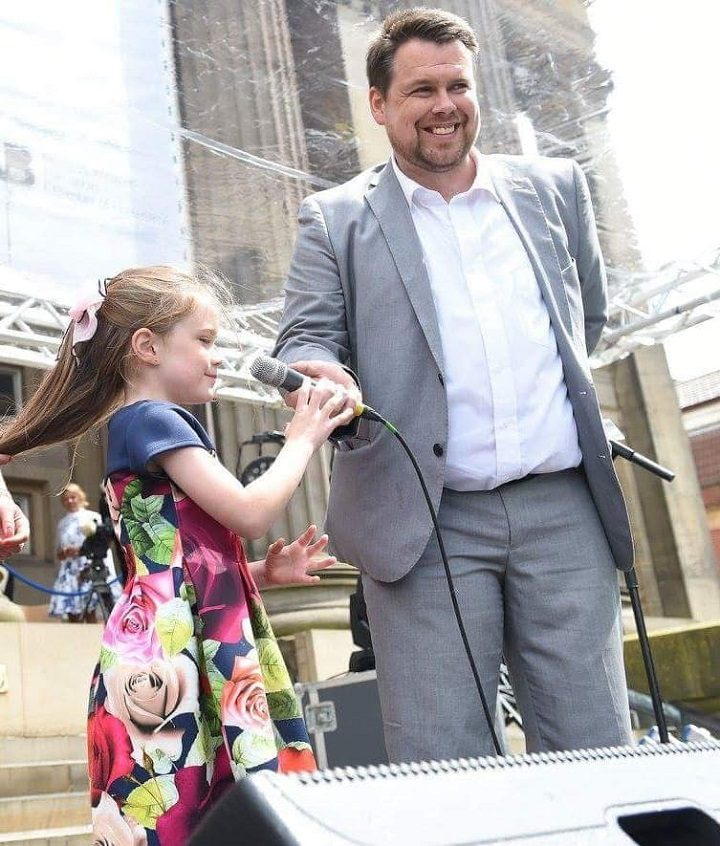 Cllr Gale and his daughter Scarlett