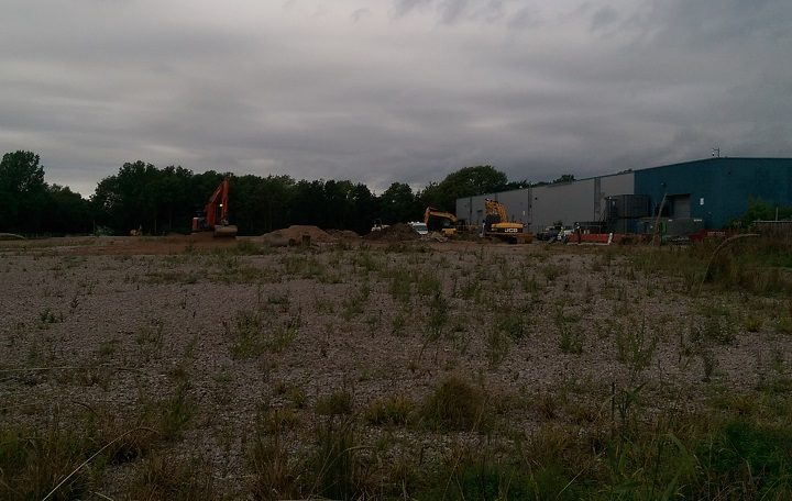 The site off Eastway where work is beginning Pic: Blog Preston