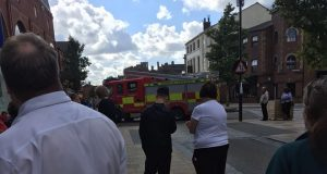Fire service arrive at Fishergate Shopping Centre Pic: Kate Cronin