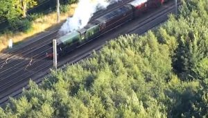 The Flying Scotsman puffing away