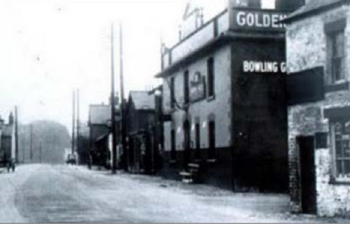The Golden Ball pictured in the early 1900s