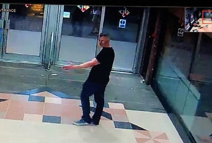 Picture released by police of a man seen in the Guild Hall Arcade walkway