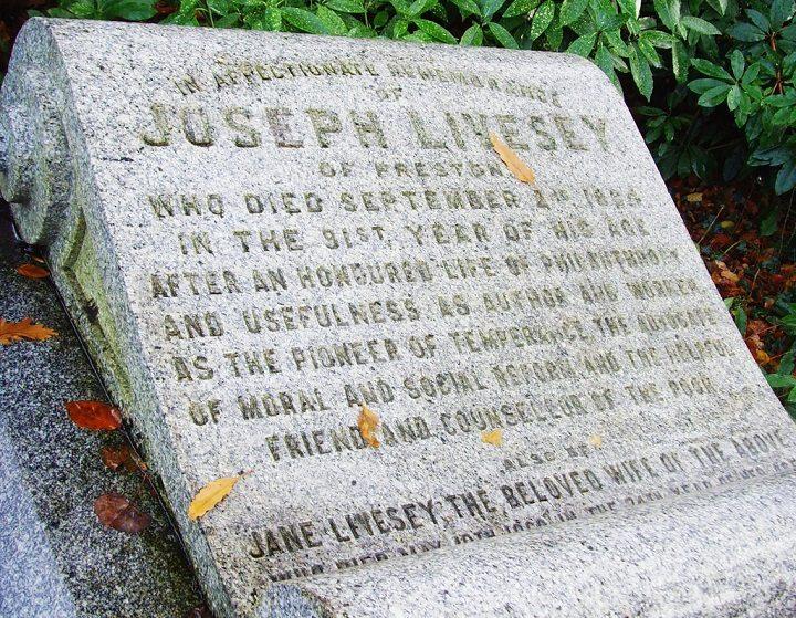 Joseph Livesey's grave in Preston Cemetery Pic: Tony Worrall