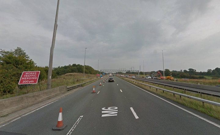 Police closed the M6 at Junction 32 Pic: Google