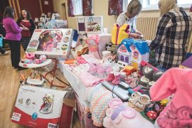 One of the stalls at a previous nearly new sale