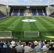 Inside Deepdale as Preston North End returned to action in the Championship Pic: dancingneats