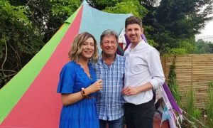 Roisin and partner Michael with Alan Titchmarsh