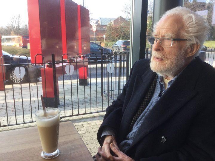 Ron Atkins out enjoying a coffee