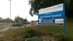 Entrance to Royal Preston Hospital Pic: Blog Preston