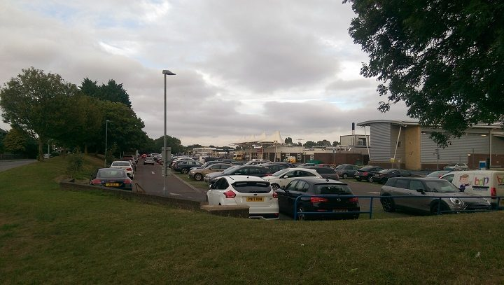 A busy visitor car park during a Monday evening at Royal Preston Hospital Pic: Blog Preston