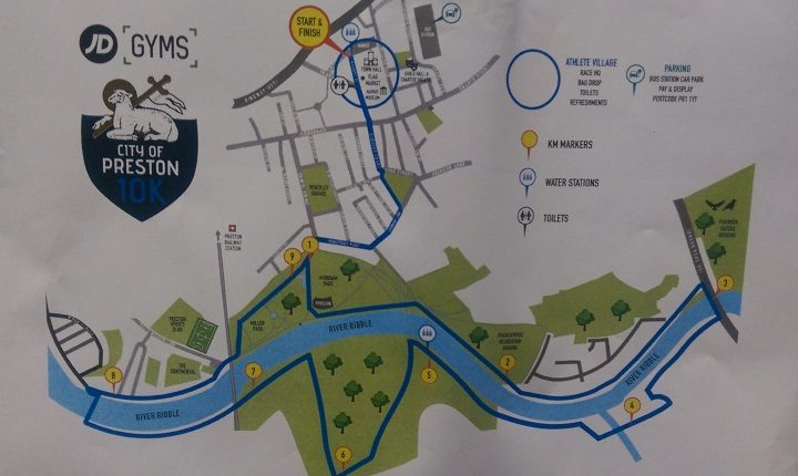 The route planned for the City of Preston 10k Pic: Blog Preston