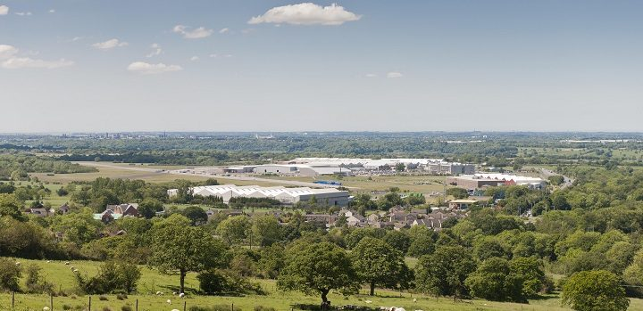 A view of the Samlesbury enterprise zone which the road will link up to