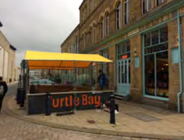 An example outdoor seating area at the Huddersfield branch of the restaurant