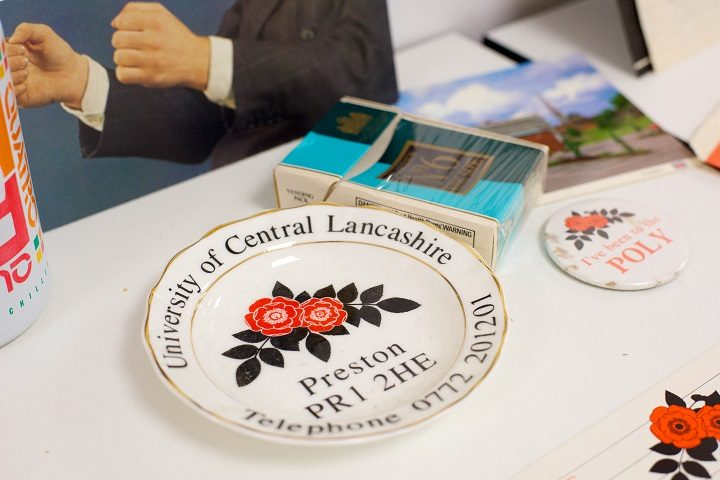 A UCLan plate - because no home should be without one