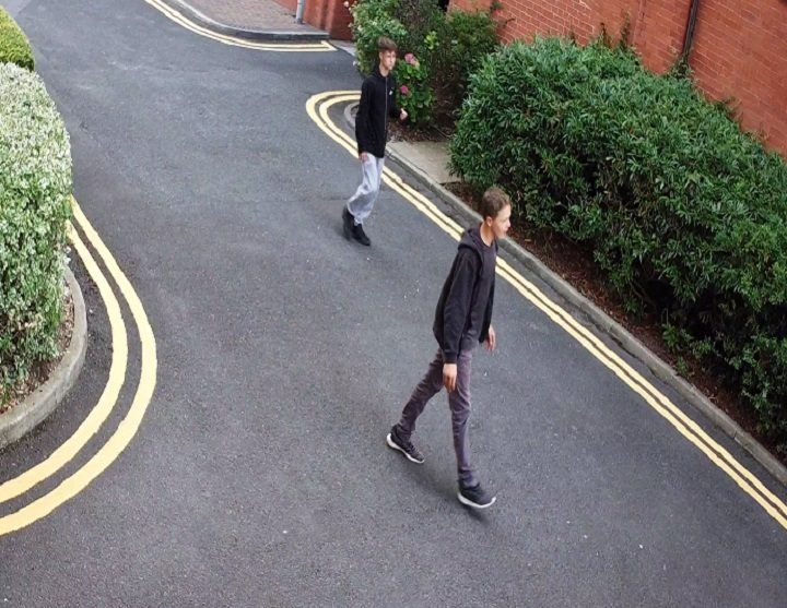 Another view of two of the youths captured on CCTV