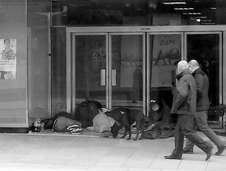 The former BHS store in Preston city centre regularly has people sleeping rough in the doorways Pic: Tony Worrall