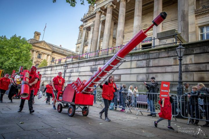 A missile marches by the Harris on the Red Dream Parade Pic: Michael Porter