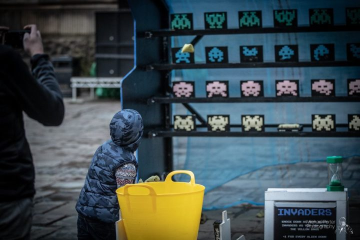 Space Invaders - life size! Pic: Michael Porter