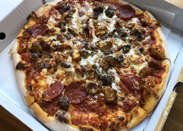 Meat feast pizza from Jaffa